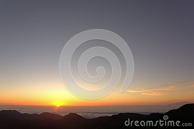 Salida del sol de Haleakala
