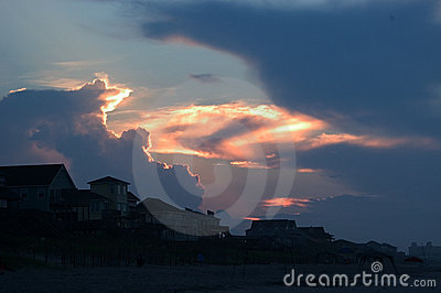 Salida del sol de la playa, Emerald Isle