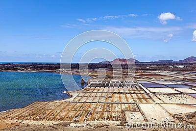 Salinas de Janubio, Lanzarote, salt refinery