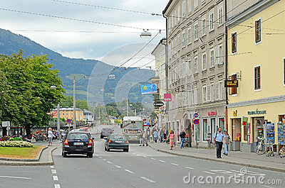 Salisburgo, Austria. Fotografia Editoriale