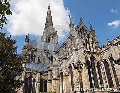 Salisbury Cathedral landscape, England