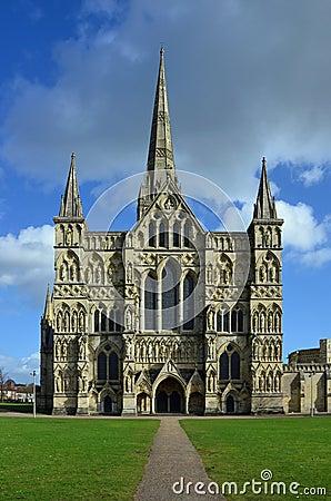 Salisbury Cathedral, Western Facade, Wiltshire, England