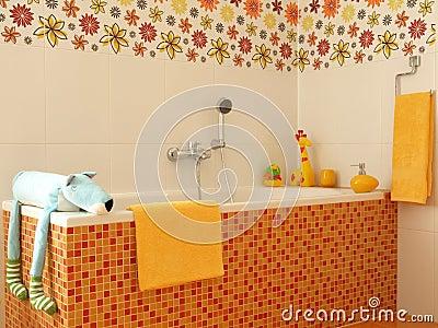 salle de bains moderne colore pour des enfants photos libres de droits image 24148328 - Salle De Bain Enfant Coloree