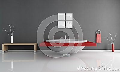Salle de bains minimale moderne