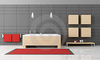 Salle de bains minimaliste image stock image 19525401 for Salle de bain minimaliste