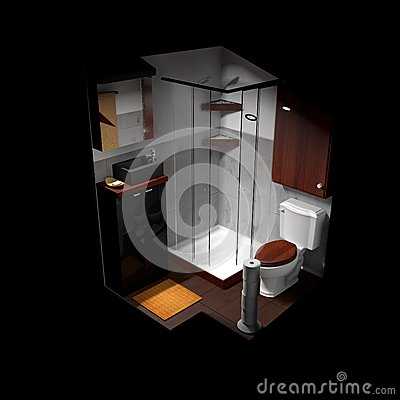 salle de bains minuscule images libres de droits image 25572349. Black Bedroom Furniture Sets. Home Design Ideas