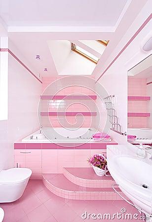 Salle de bains moderne photographie stock image 16990942 for Salle de bain fille