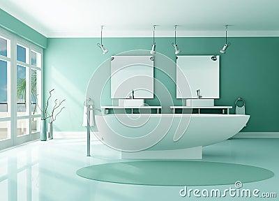 Salle de bains moderne de luxe photographie stock image for Salle de bain de luxe moderne