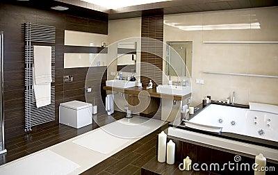 Salle de bains moderne luxueuse photographie stock image 5401222 - Baignoire moderne luxueuse ...