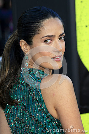 Salma Hayek arrives at the  Editorial Photo