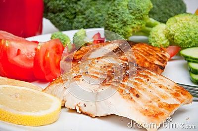 Salmon diet food