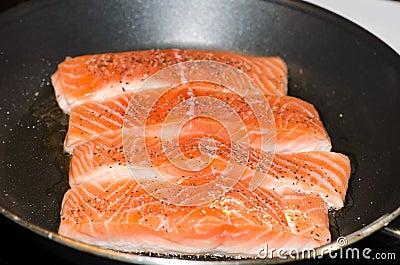 Cooking Salmon