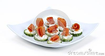 Salmon for finger food