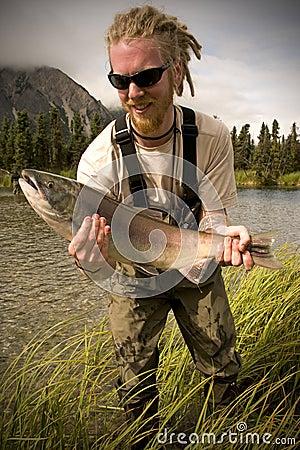 Alaska Salmon Fishing on Salmon Fishing In Alaska Kevinbeasl Dreamstime Com