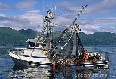 Salmon Fishing Boat