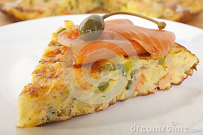 Salmon Frittata with Caperberry