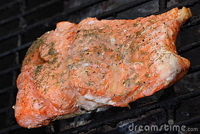 Salmon on Grill, 2