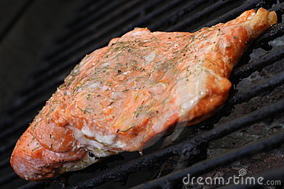 Salmon on Grill, 3
