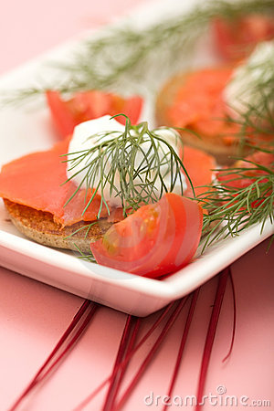 Salmon Hor d oeuvre