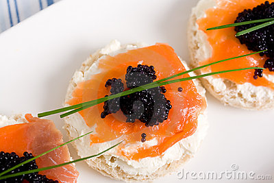 Salmon mini sandwich