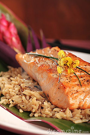 Free Salmon On Rice Royalty Free Stock Photo - 6828725
