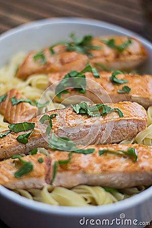 Salmon and Pasta