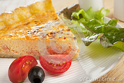 Salmon Quiche and Salad