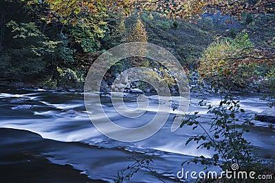 Salmon river in fall