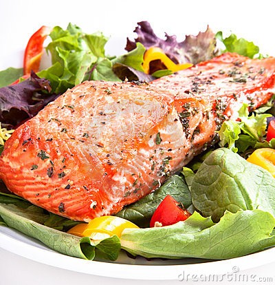 Free Salmon Salad Stock Image - 21587121