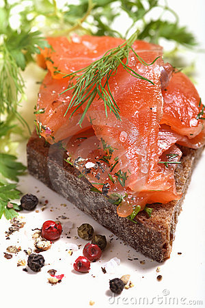 Free Salmon Sandwich Stock Photo - 3822000