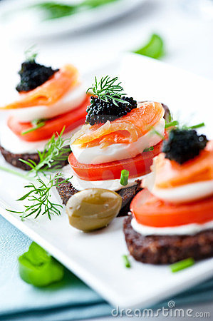 Free Salmon Snack Stock Images - 23819304
