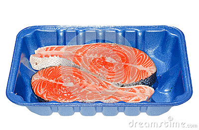 Salmon Steaks in a Tray