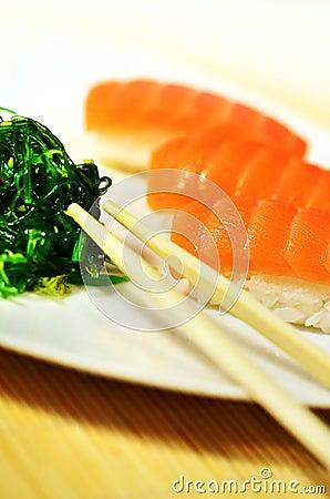 Salmon Sushi Plate