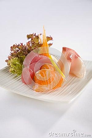 Salmon Tuna and Kingfish Sashimi plate