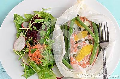 Salmoni in pergamena