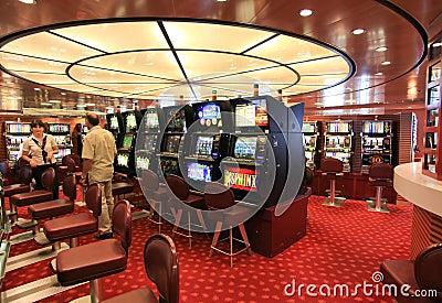 Salão de jogo no navio Superfast Imagem de Stock Editorial