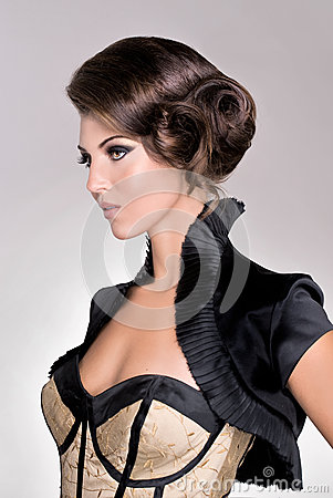 Salon fashion hair model