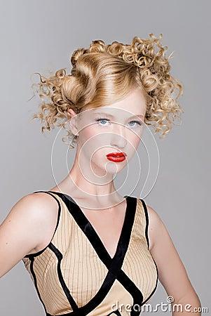 Salon fashion hair model