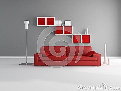 Salon rouge et gris photos libres de droits image 17459478 for Salon gris et rouge