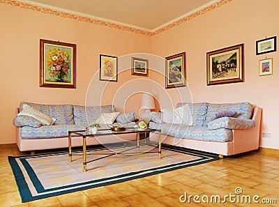 Salone classico immagini stock immagine 5260644 for Colori per salone