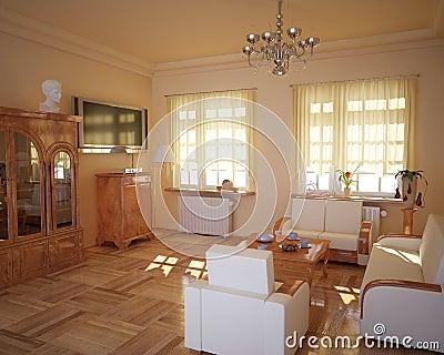 Stile Del Classico Del Salone Illustrazione di Stock - Immagine ...