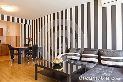 Pareti A Righe Bianche E Nere : Parete righe bianche e nere come dipingere le pareti a strisce