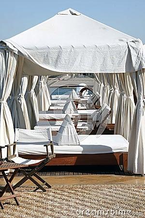 Salons sur le solarium de bateau