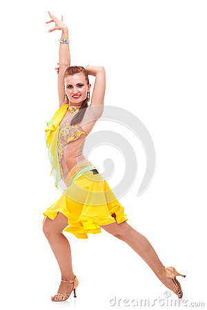 Salsa dancer in a nice dance pose