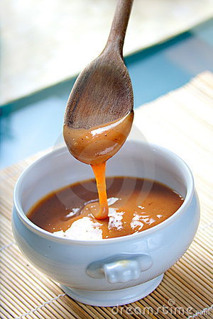 Salsa mexicana del caramelo de Cajeta