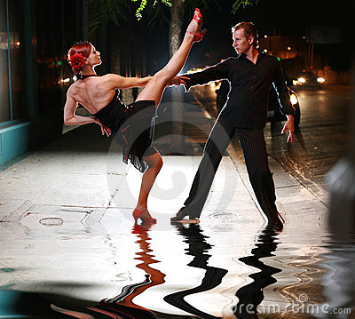 Free Salsa On Street Stock Photography - 4239562