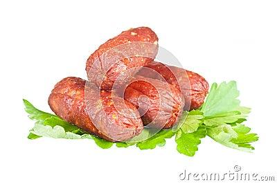 Salsichas pequenas