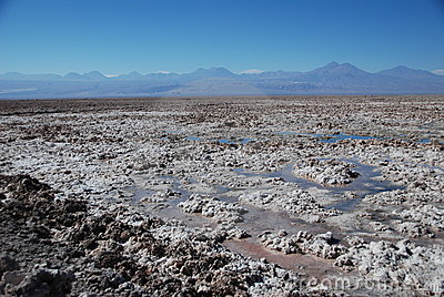 Salt in Atacama desert