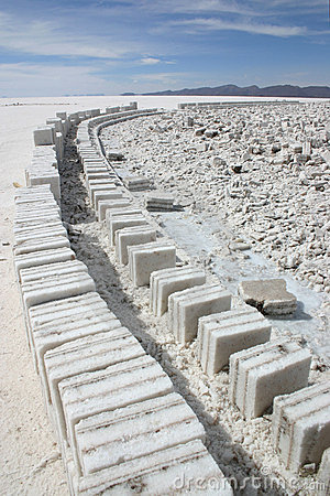 Free Salt Blocks And Brick Road, Uyuni Royalty Free Stock Photos - 9121018