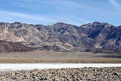 USA, CA/Death Valley: Dried Salt and Sculpted Mud
